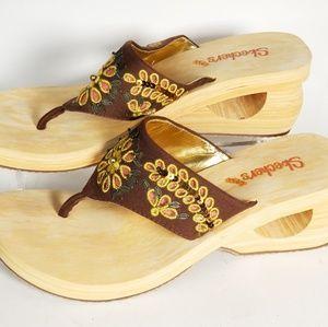 Skechers Women's Cali Sandals SN36544 Code Brown